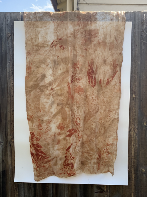 Image of Eco- Dyed Wool & Silk Scarf