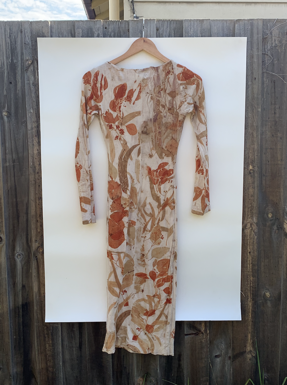Image of Eco-Dyed Woollen Dress