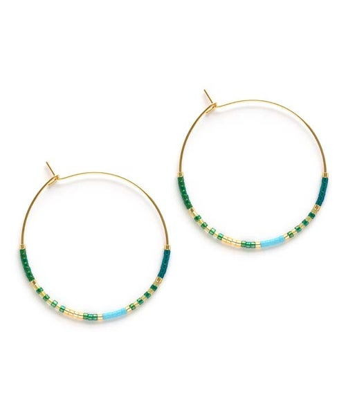 Image of Amano: Seashore & Succulents Miyuki Beaded Hoops