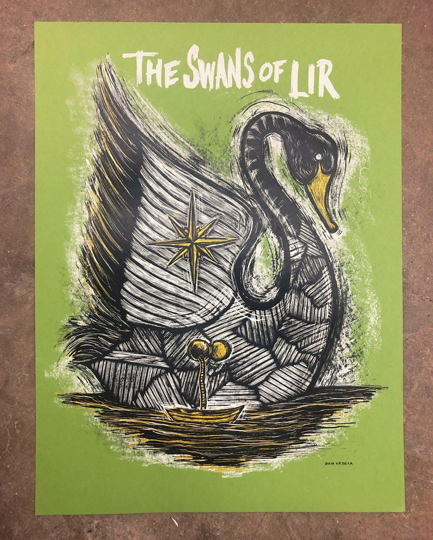Swans of Lir Screenprint