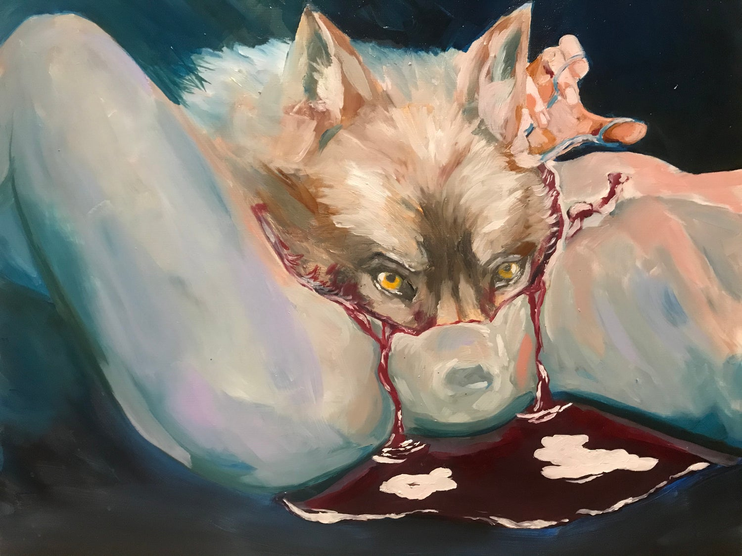 Print : Wolf calls to wolf calls to wolf on the outside
