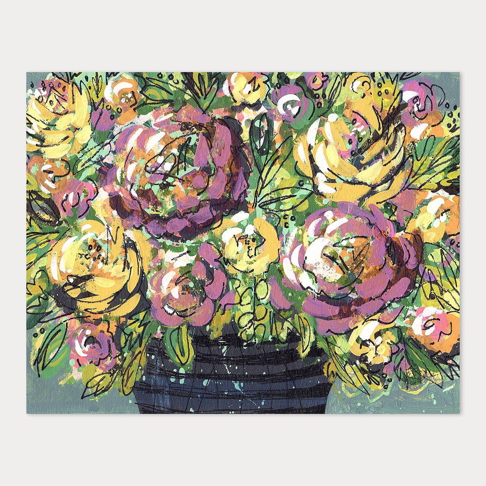 Image of 8x10 Art Print - The One with the Purple and Yellow Flowers