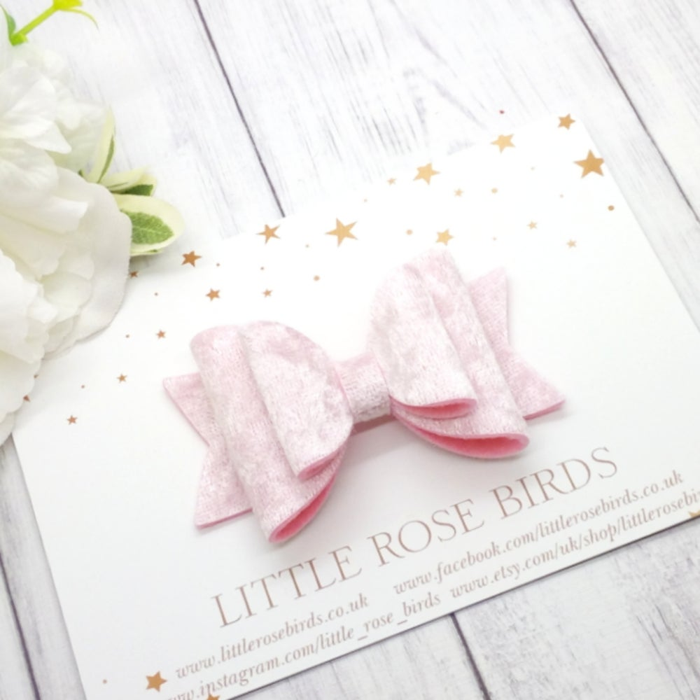 Image of Pink Velvet Bow - Choice of Size