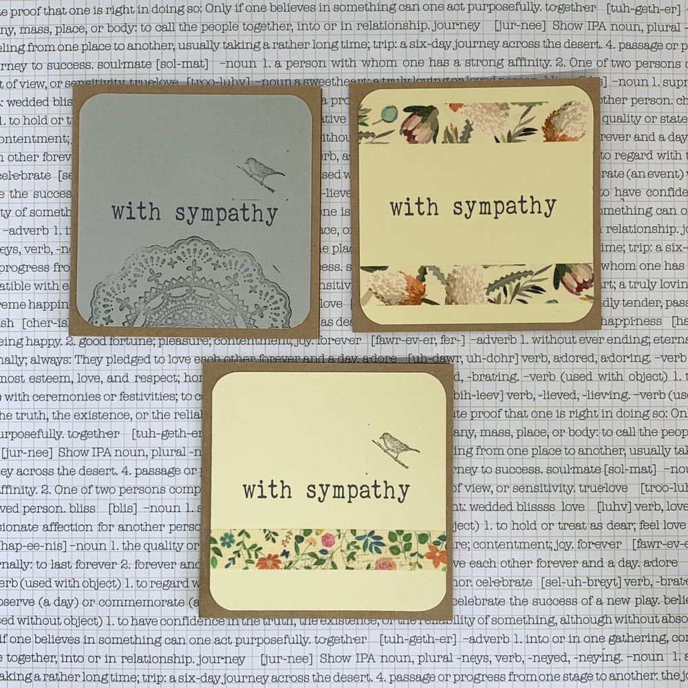 Image of with sympathy gift card