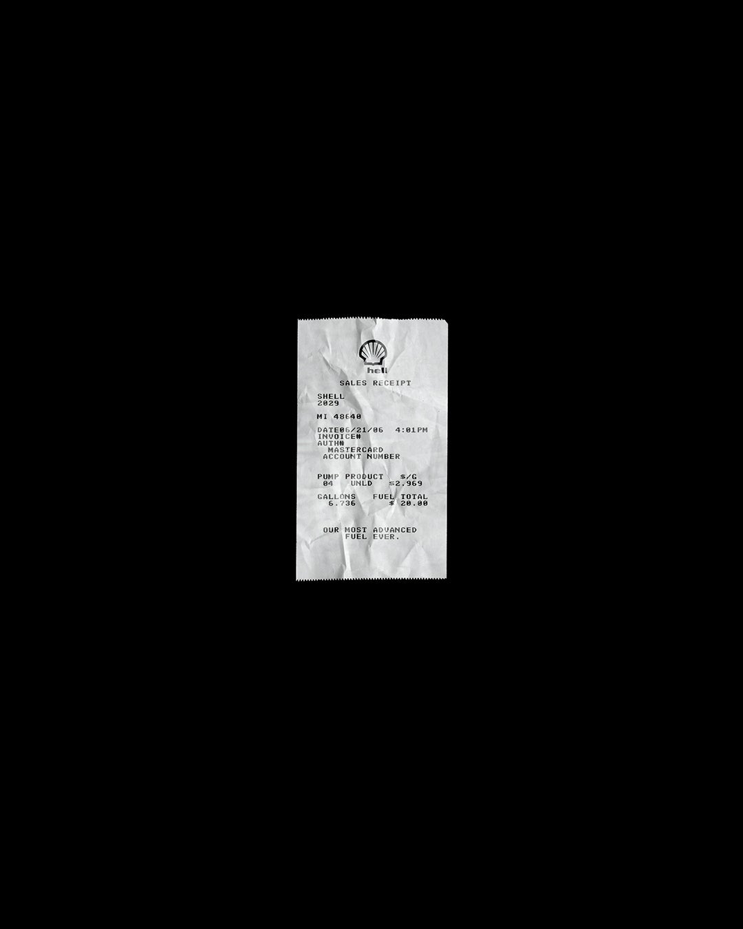 Image of GAS STATION RECEIPT