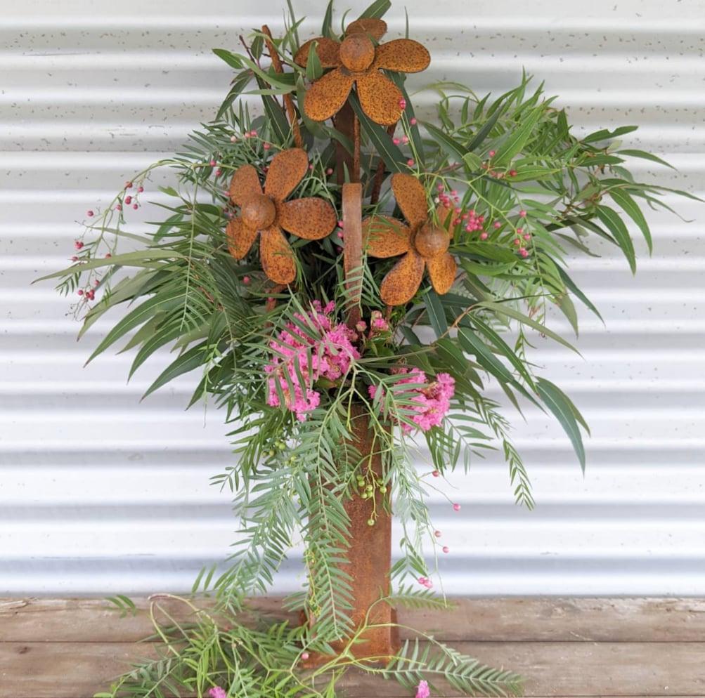 Rusty Flower Vase