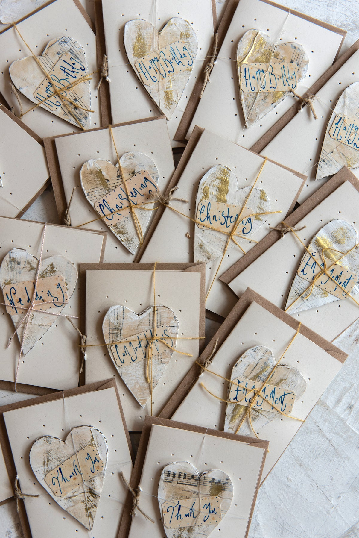 Image of 'Little Heart' paper machet greeting cards