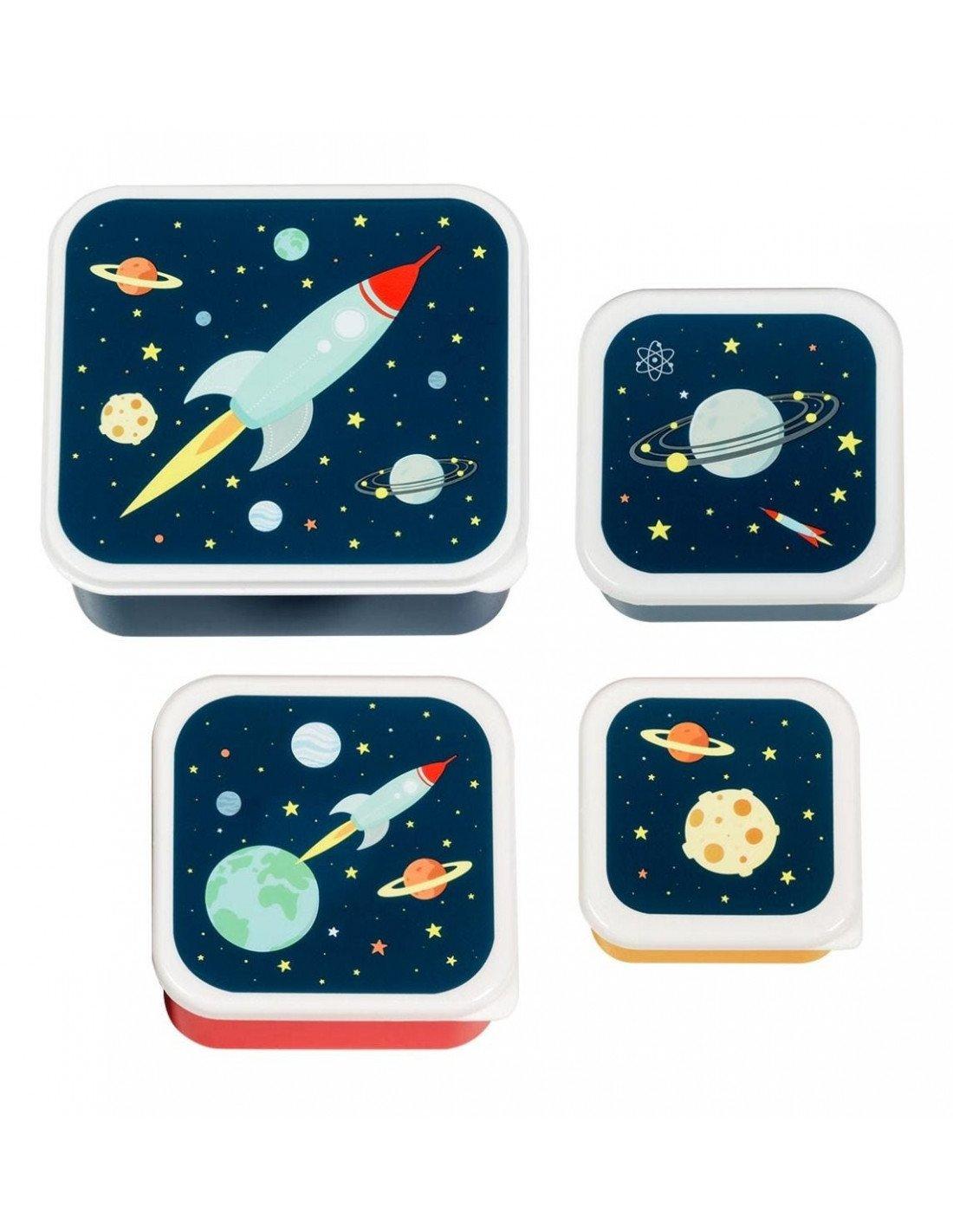 Image of 4 boites à goûter espace