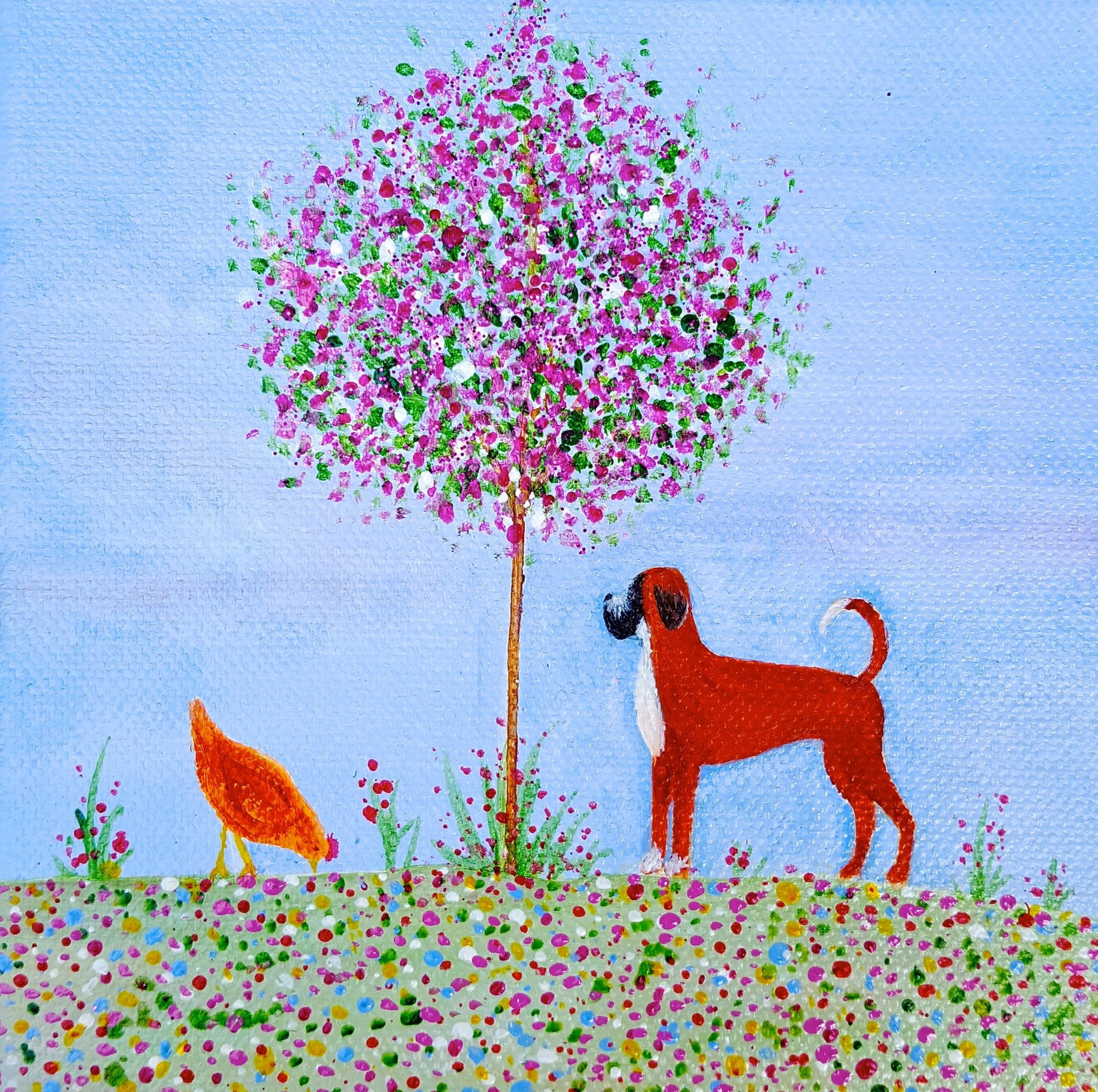 Image of Finley Boxer Dog Greeting Card
