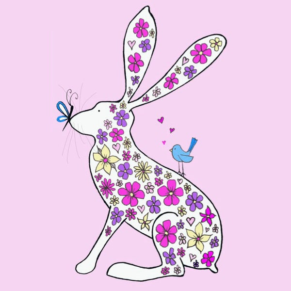 Image of Spring Hare Greeting Card