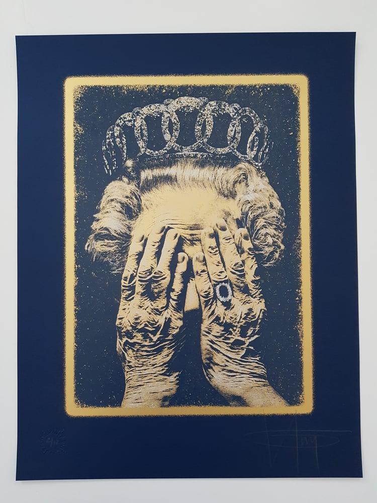 """Image of KGUY """"CRUEL BRITANNIA"""" GOLD / BLUE EDITION OF JUST 12 - 50CM X 65CM"""