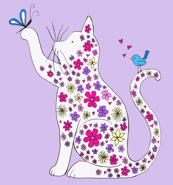 Image of Spring Kitty Greeting Card