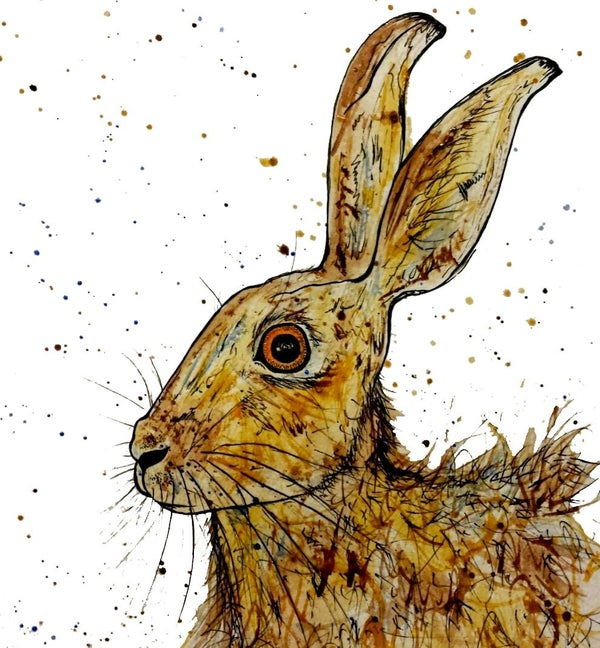 Image of Brown Hare Greeting Card