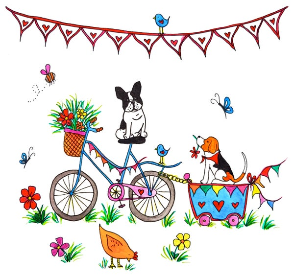 Image of Bicycle Ride Greeting Card