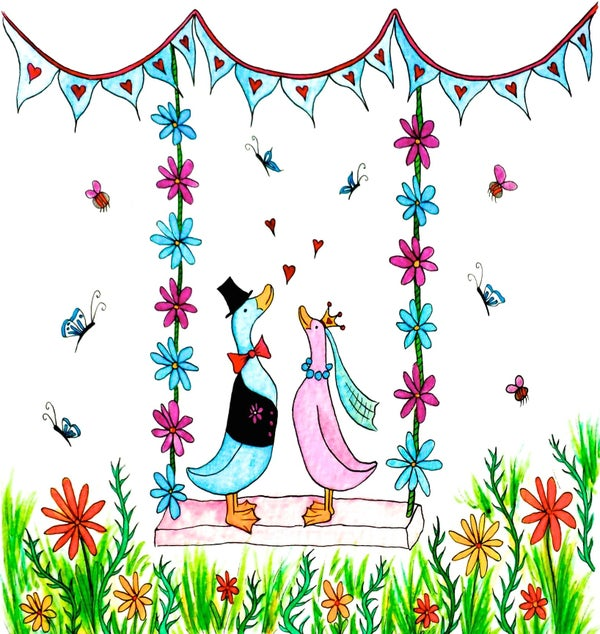 Image of Wedding Ducks Greeting Card