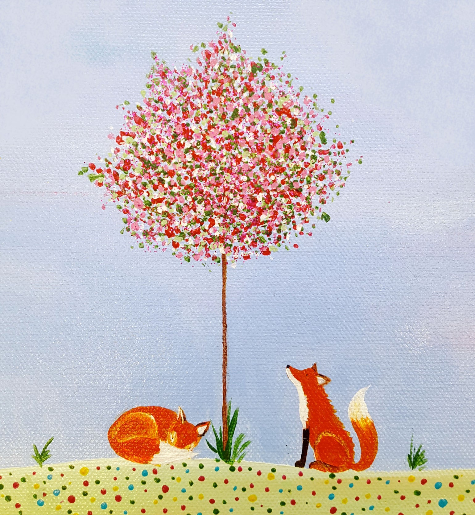 Image of Sleepy Foxes Greeting Card