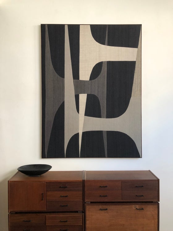 Image of large abstract composition (greys)