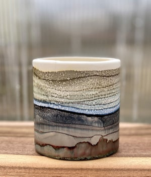 Image of Large Round Ceramic Vessel - D