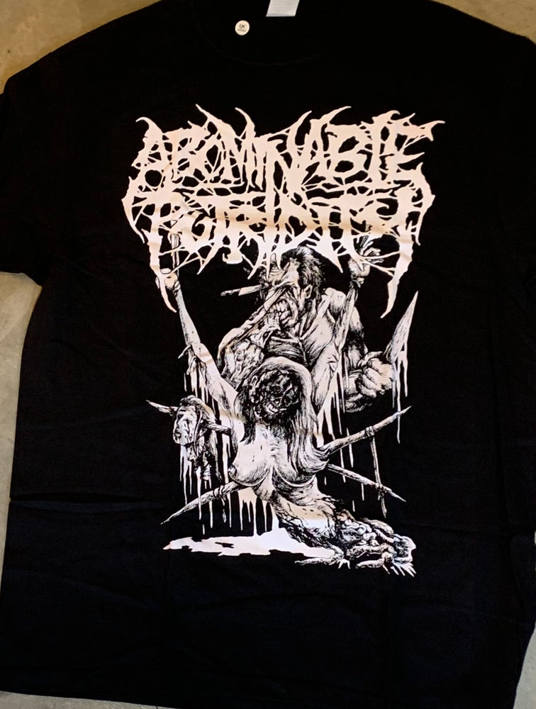 """Image of Officially Licensed Abominable Putridity """"Moscow Style Sickness"""" Classick Logo and Art Shirt!"""