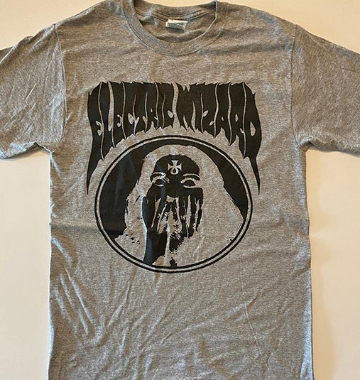 """Image of Electric Wizard """" Inverted Ankh Girl """" Gray T-shirt"""