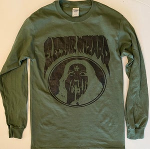 """Image of Electric Wizard """" Inverted Ankh Girl """" Green Longsleeve T-shirt"""