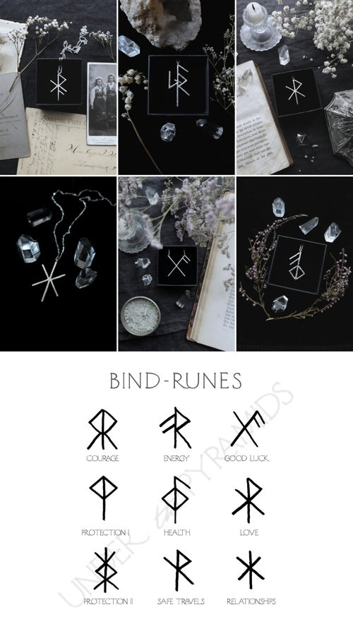 Image of NORNIR. BIND RUNE TALISMAN ↟ sterling silver - any bindrune: love, luck, health, protection ...