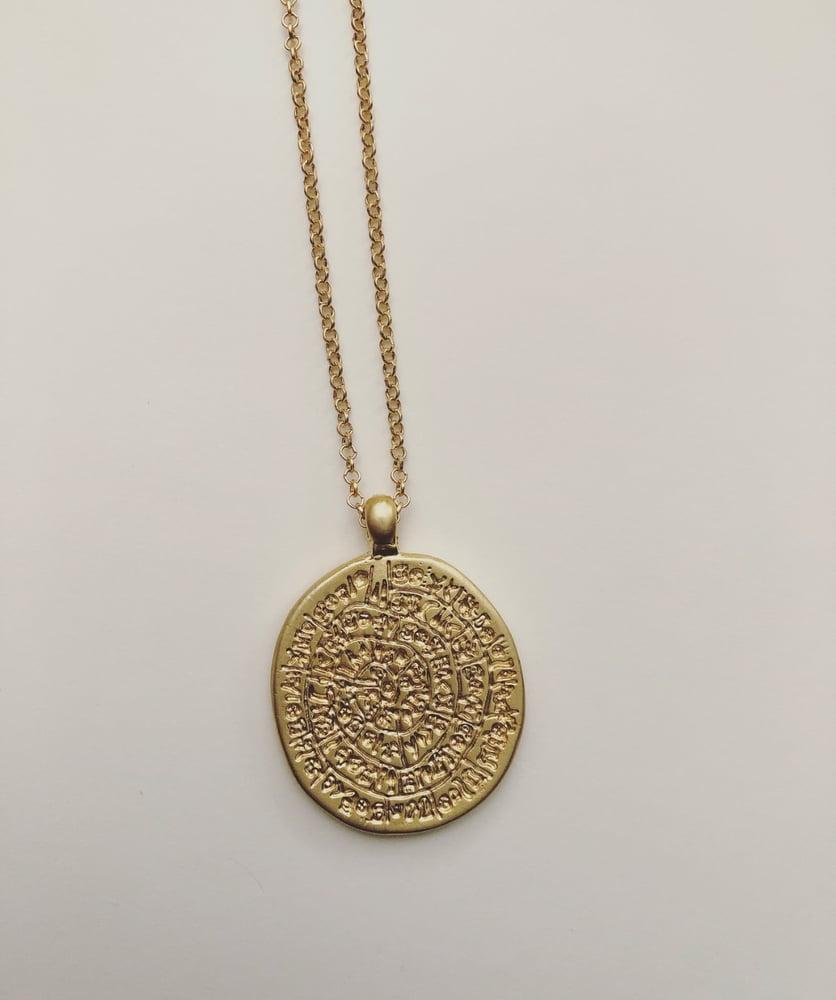 Image of Greek disc pendant