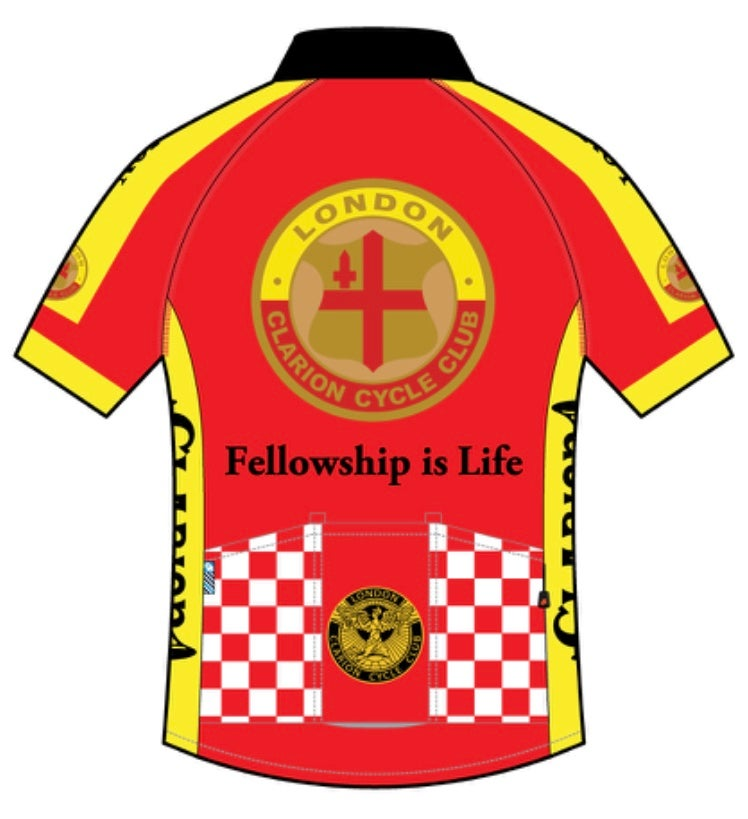 Image of Short Sleeve Jersey Tech+ London Clarion CC Original Design
