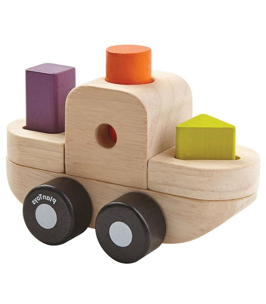 Image of Plan Toys Sorting Puzzle Boat