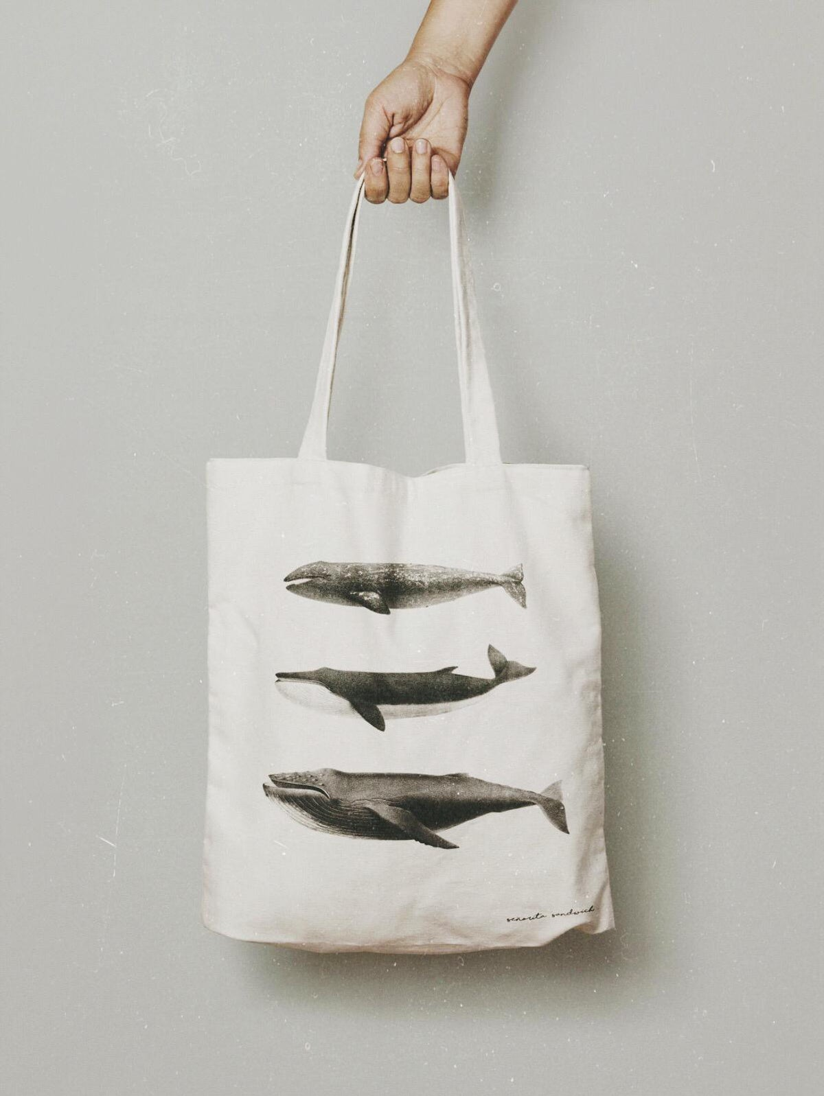 Image of tote bag whales