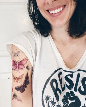 Image of Floraflies Temporary Tattoos