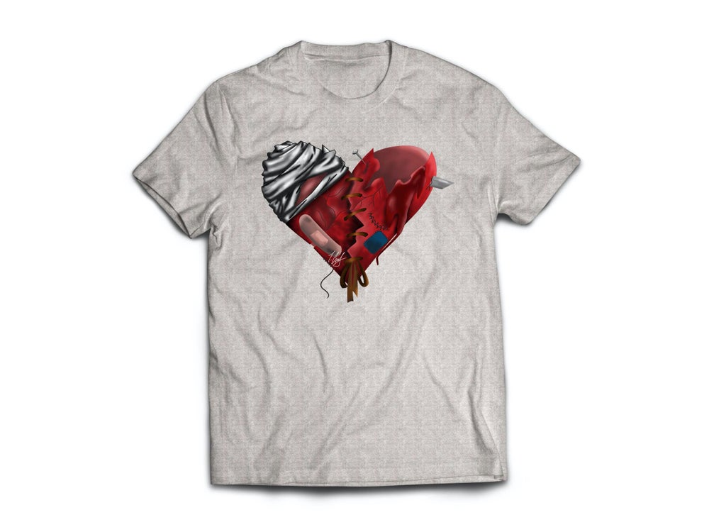 Image of HeArTbRokEN Grey Tee