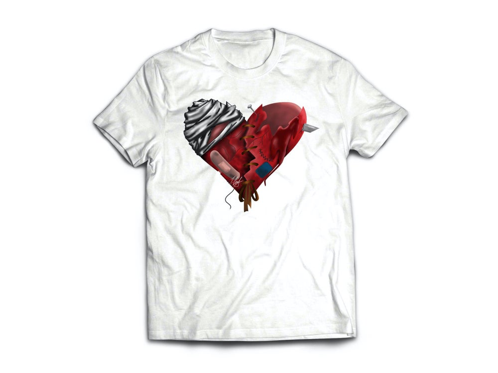 Image of HeArTbRokEN White Tee