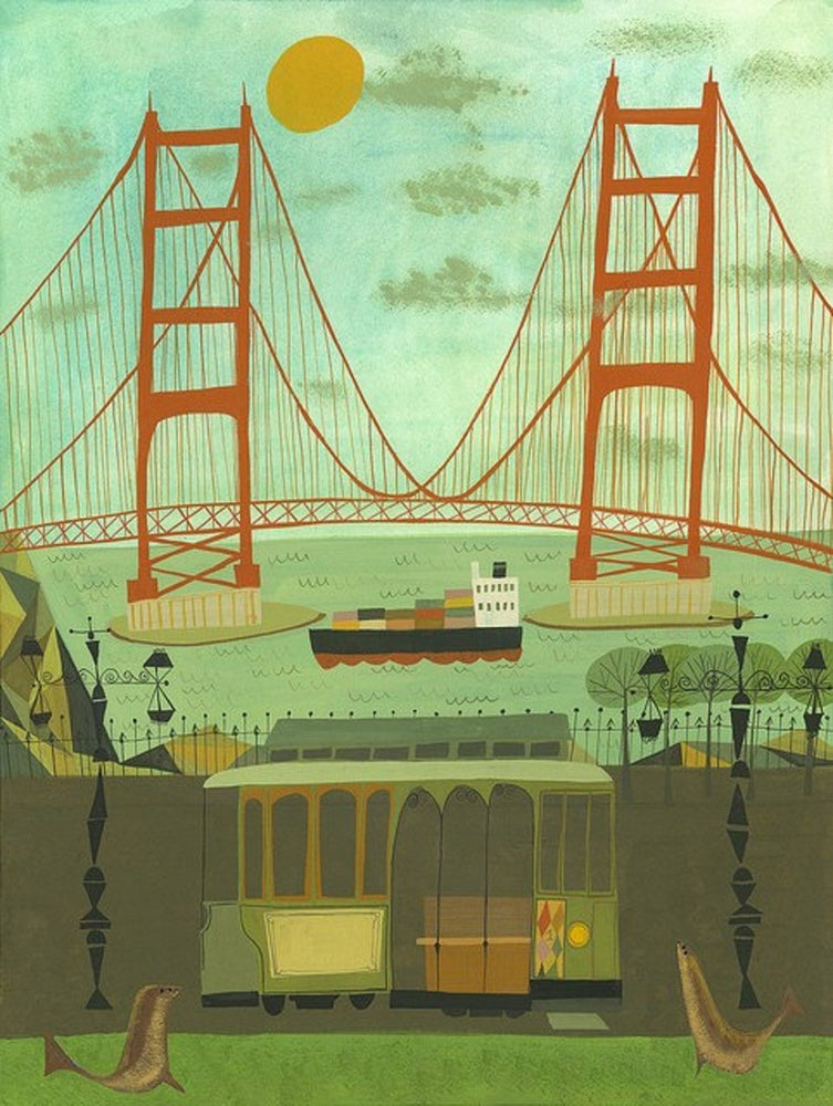 Image of Golden Gate Bridge. Limited edition print.
