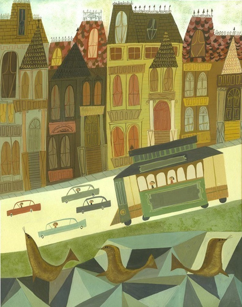 Image of San Francisco. Limited edition print.