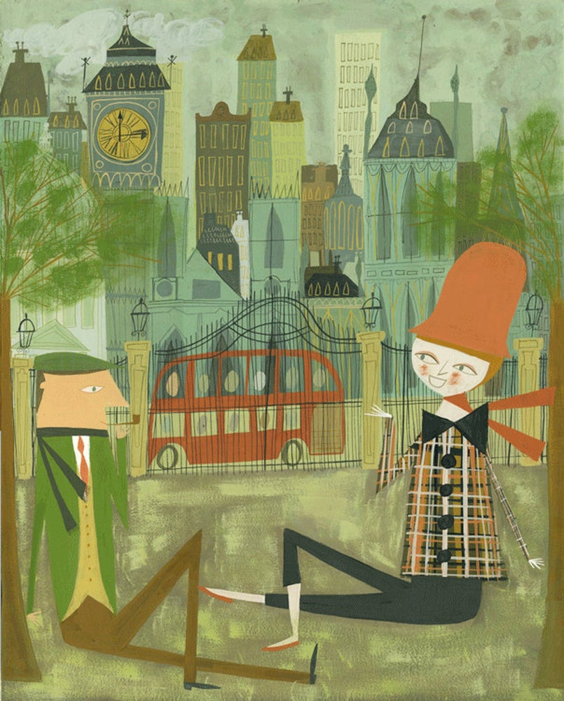 Image of London. Limited edition print.