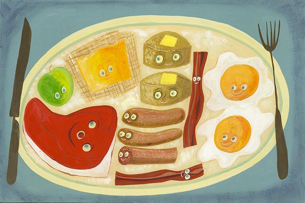 Image of Lumberjack breakfast. Limited edition print.