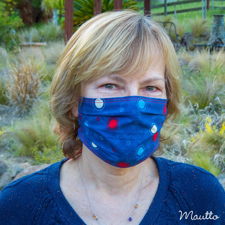 Image of Face Covering / Ear Loop Mask for COVID-19 Pandemic - Washable & Reusable - Free Shipping to the USA