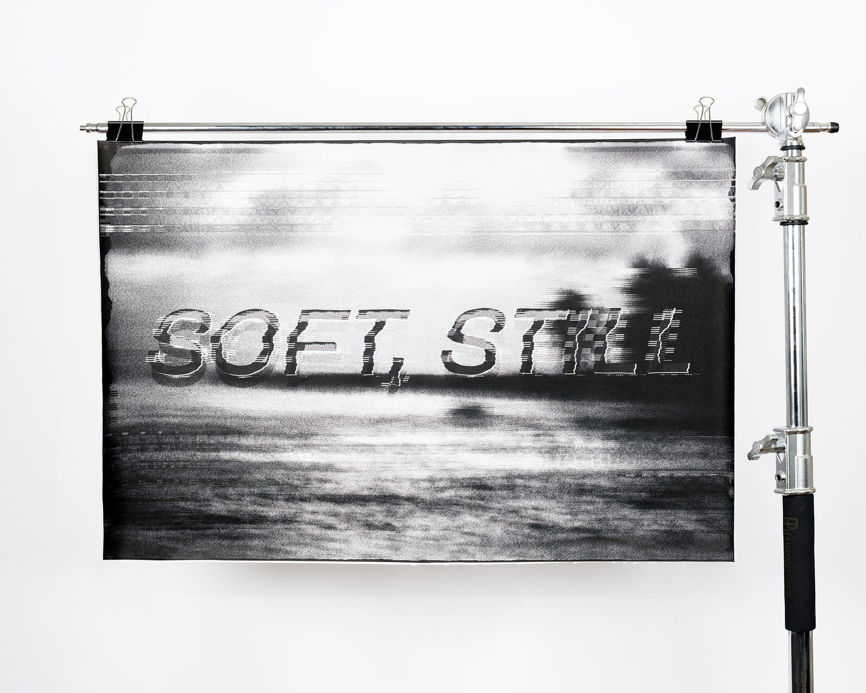 Image of SOFT, STILL glitch poster
