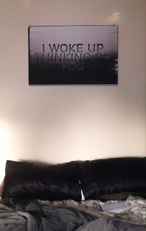 Image of I WOKE UP THINKING OF YOU glitch poster