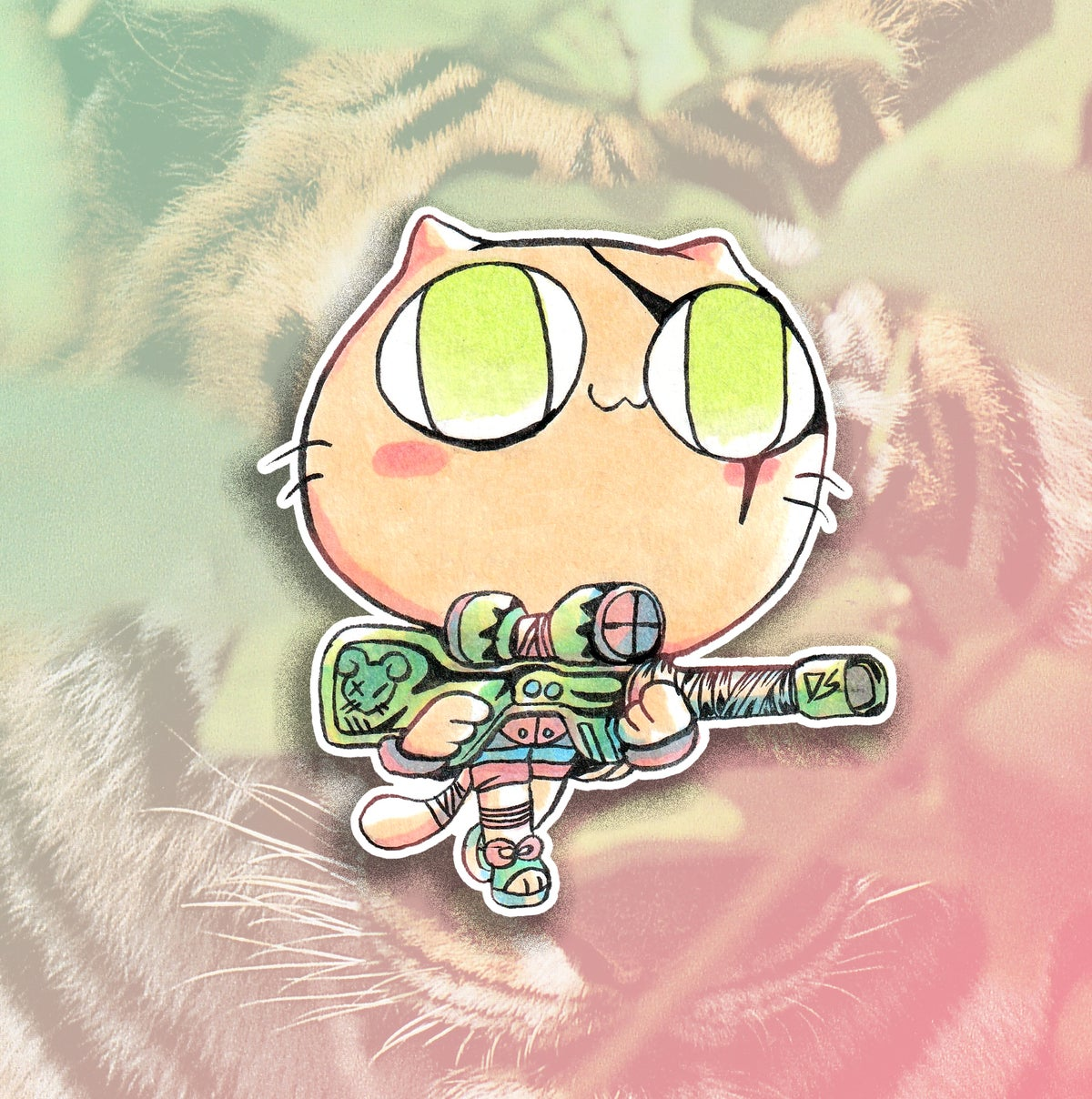 Image of Sniper Kitty Sticker