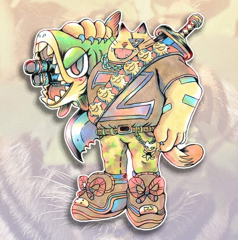 Image of Big Zach Cat Sticker