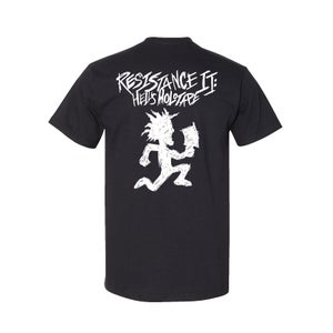Image of Resistance II: Hells Holotape Album shirt