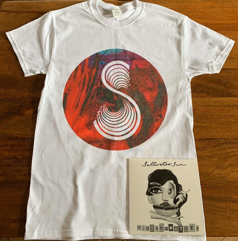Image of White T Shirt +  Mouthbreather Vinyl Bundle