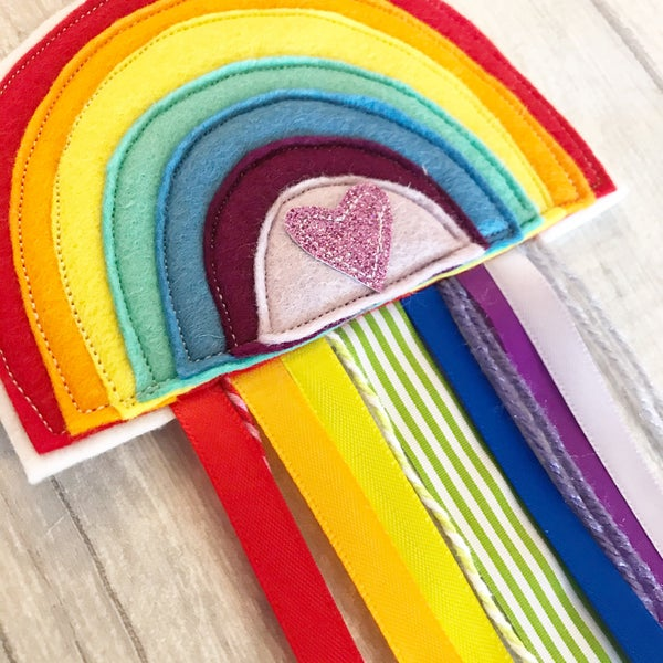 Image of Rainbow Ribbon Hanger