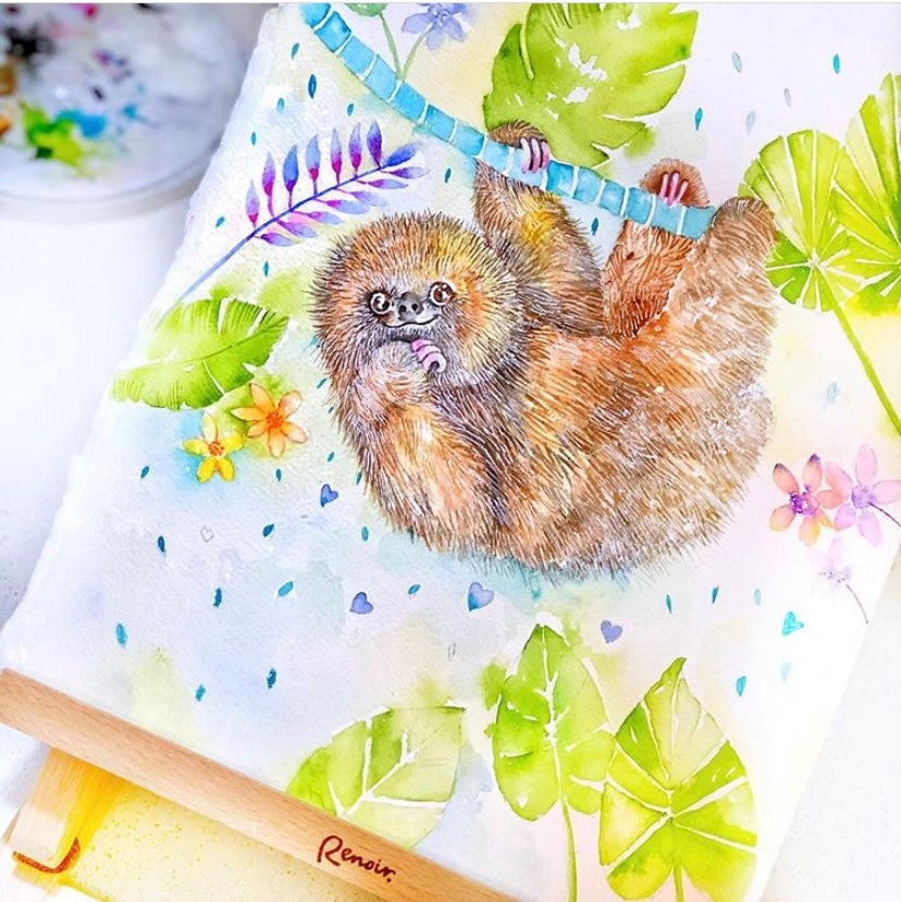 Image of Barney the baby Sloth  FREE SHIPPING