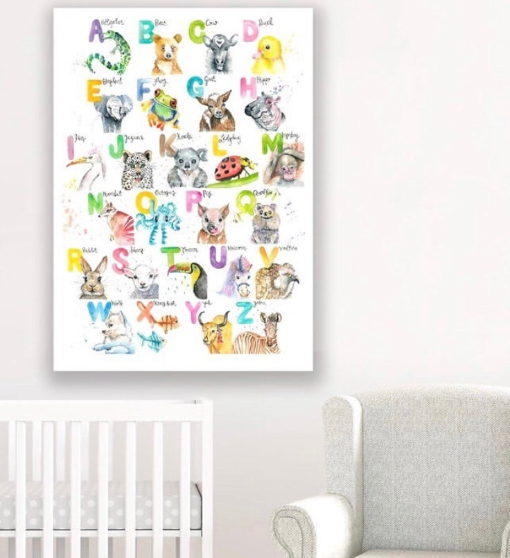 Image of ABC watercolour print  Plus FREE SHIPPING