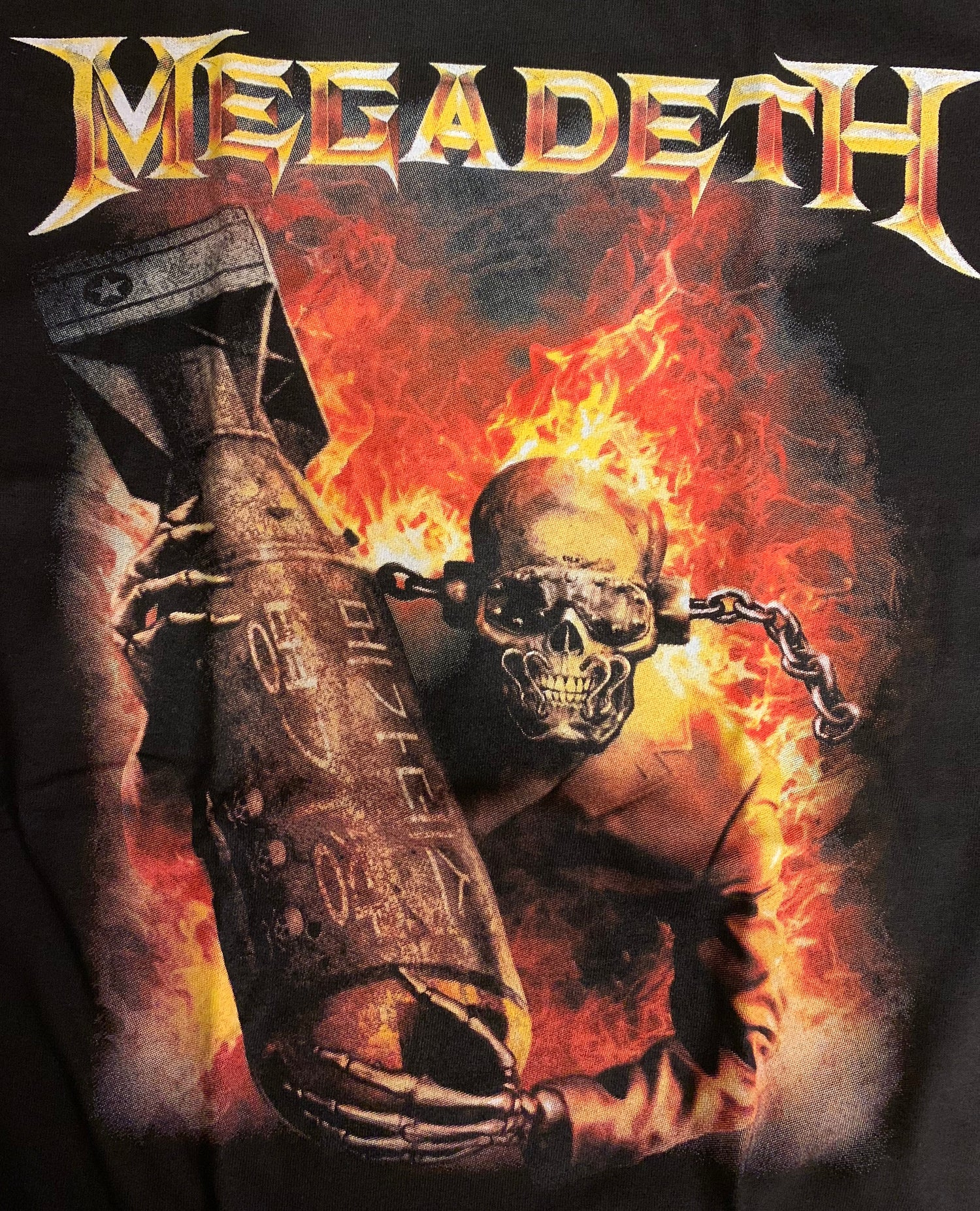 "Image of Megadeth ""Arsenal"" T Shirt Mens"