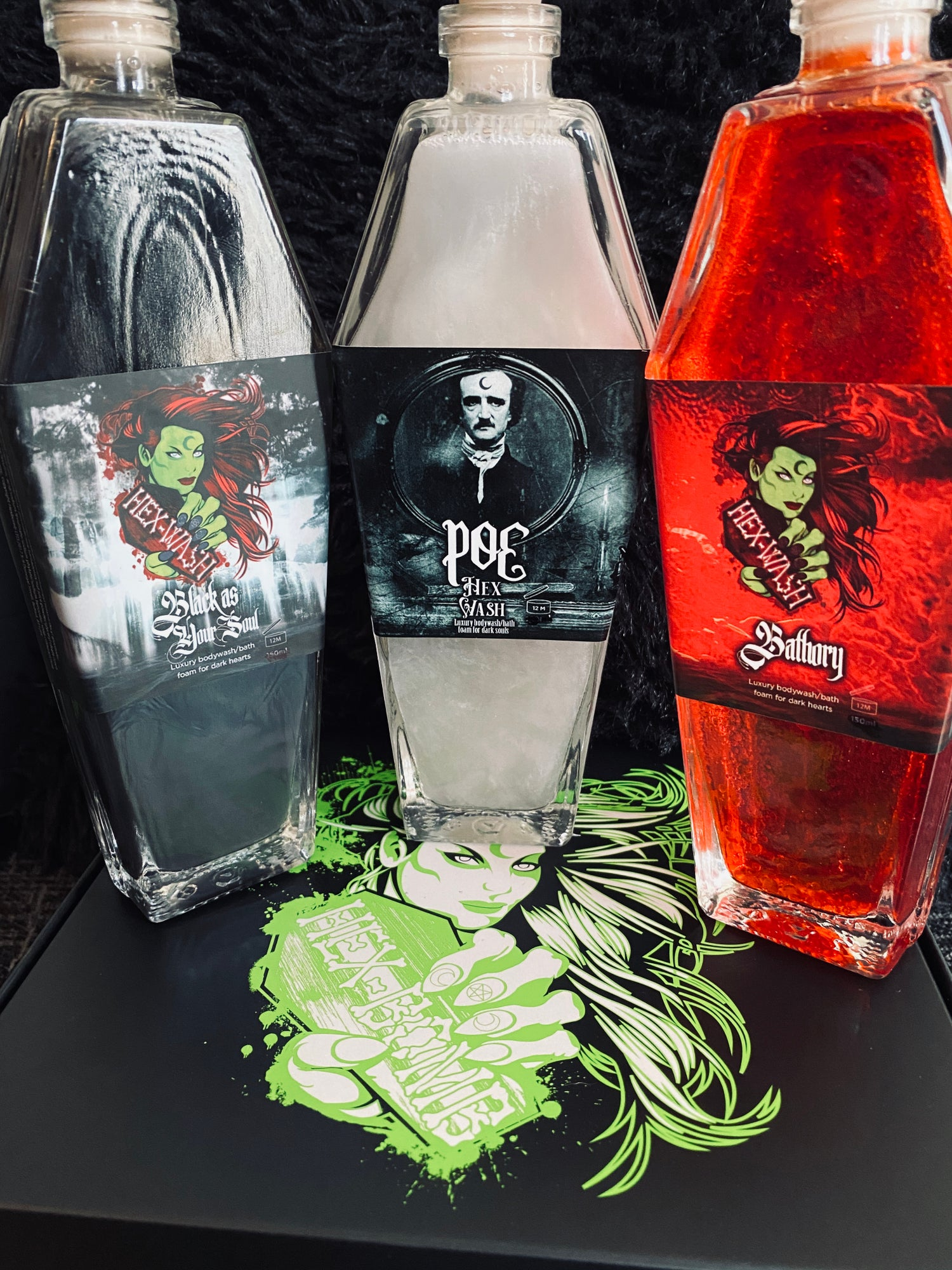 Image of IN STOCK NOW!- NEW Large 200ml glass coffin Hexwash