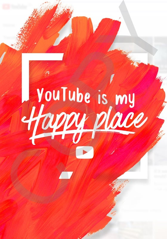 Image of YouTube Is My Happy Place A2 Poster